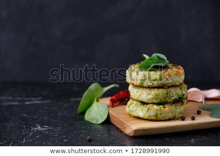 Sebze balsamik sirke sos gıda plaka zemin Stok fotoğraf © Digifoodstock