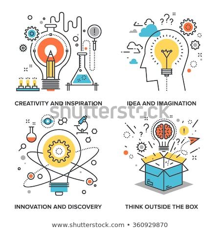 criação · idéias · novo · inspiração · vetor · illustrator - foto stock © filata