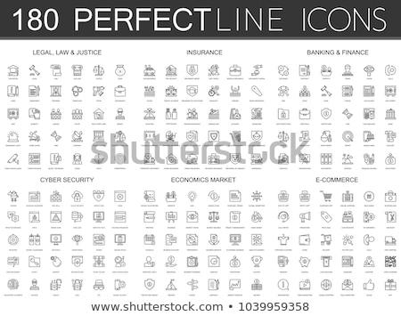 Lawyer Concept Icons Set Stock photo © Genestro