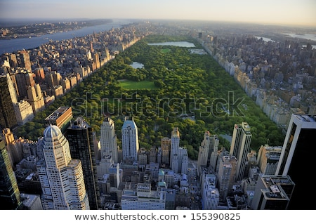 New York - aerial view of Central Park and office skyscrapers Stock photo © Taiga
