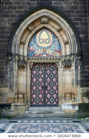 Medieval mosaic in Prague, Czech, European Landmark Stock photo © Taiga