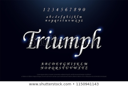 Stockfoto: Zilver · brieven · alfabet · school · kunst · onderwijs