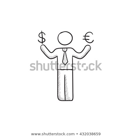 hand · geld · schets · icon · vector - stockfoto © rastudio
