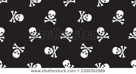 Skull and crossbones repeat seamless pattern Stock photo © adrian_n