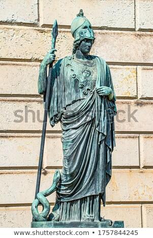 Statua antica armato soldato pietra costruzione Foto d'archivio © bbbar