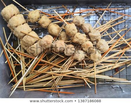 reiger · vogel · top · houten · structuur · mooie - stockfoto © luissantos84
