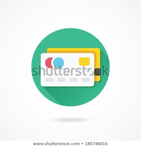 Rounded icons with credit cards Stock photo © bluering
