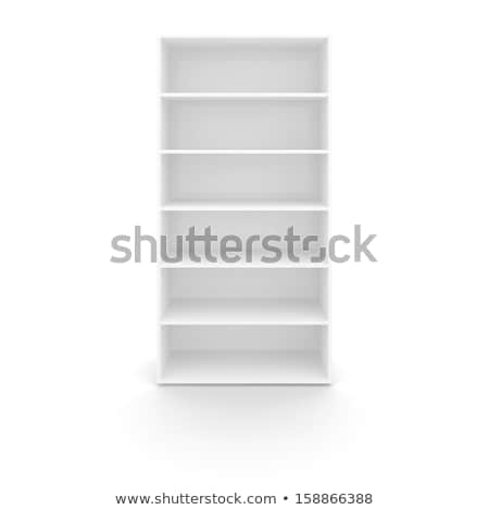 empty white bookshelf stock photo © cherezoff