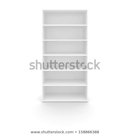 пусто белый книжная полка изолированный 3d иллюстрации бизнеса Сток-фото © cherezoff