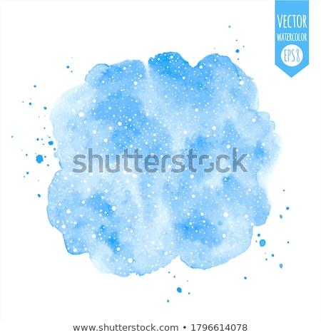 winter · aquarel · sneeuwvlokken · abstract · ontwerp · sneeuw - stockfoto © solarseven