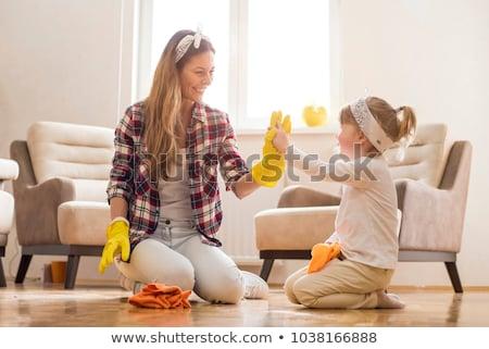 Limpieza de primavera diferente productos de limpieza casa trabajo casa Foto stock © Hofmeester