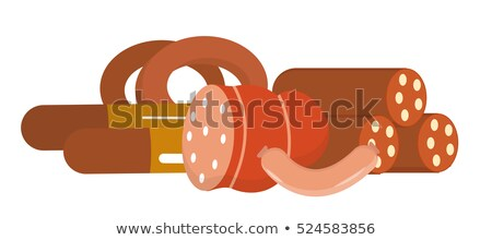 Sausage and frankfurters still life, isolated on white background. Vector illustration. Stock photo © lucia_fox