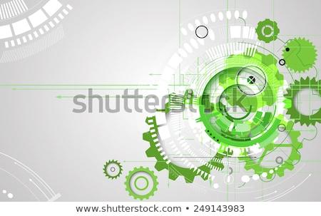 зеленый механический баннер прямоугольный передач нуля Сток-фото © blackmoon979