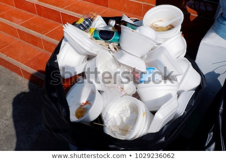 Pile of rubbish with foam and plastic Stock photo © bluering