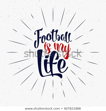 2016 football typography retro sign soccer overlay tournament logo welcome to france hand letteri stock photo © jeksongraphics