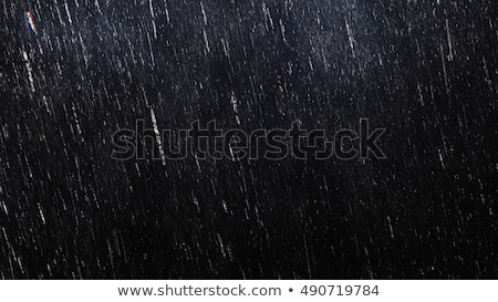 Heavy rain and lightening in dark sky stock photo © jiaking1