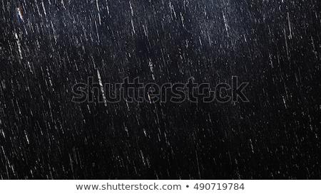 Pesado chuva relâmpago escuro céu vetor Foto stock © jiaking1