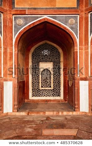 Içinde mezar iç Delhi Hindistan dekore edilmiş Stok fotoğraf © searagen