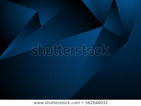 black abstract concept polygonal tech background stock photo © saicle