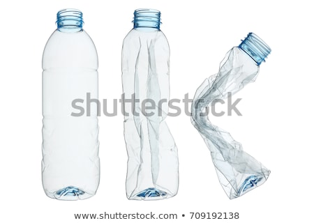 Stock photo: Plastic bottles isolated on white background + clipping path.