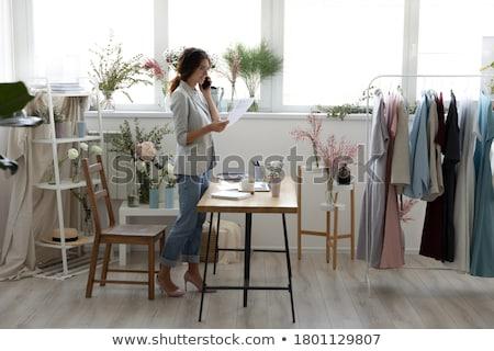 the woman dressmaker Stock photo © adrenalina