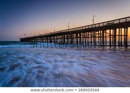ocean wave ventura pier stock photo © hlehnerer