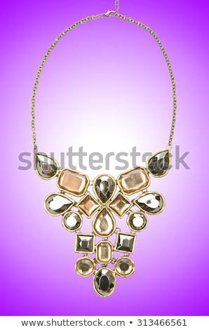 bella · argento · bracciale · prezioso · pietre · isolato - foto d'archivio © elnur