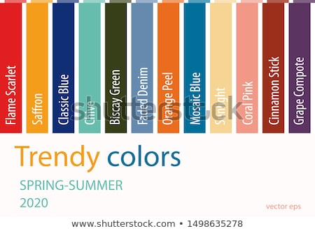 Stock photo: spring elements with trendy colors
