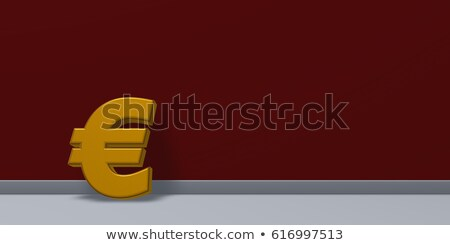 euro symbol in front of red wall - 3d rendering Stock photo © drizzd