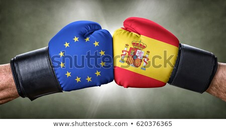 A boxing match between the European Union and Spain Stock photo © Zerbor