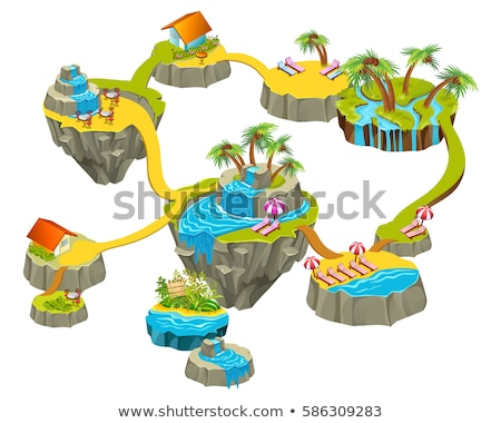 Composite image of island in 3d Stock photo © wavebreak_media