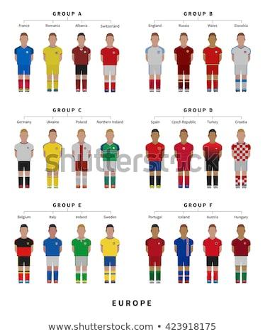 Fußball Spieler Fußball Teams Republik Stock foto © tkacchuk