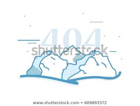 Cartoon górskich krajobraz logo kopia przestrzeń minimalistyczne Zdjęcia stock © Loud-Mango