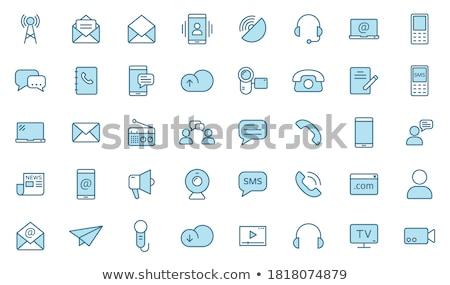 Bureau affaires téléphone portable crayon Photo stock © ordogz