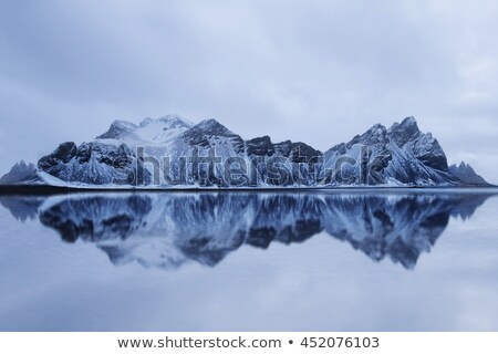Landscape with mountains reflected in water, Iceland Stock photo © Kotenko