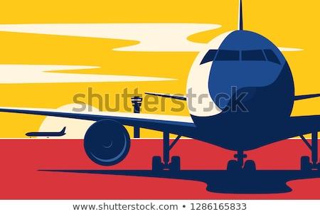 Сток-фото: вектора · стиль · иллюстрация · аэропорту · икона · веб