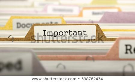Sort Index Card Important. 3D Rendering. Stock photo © tashatuvango