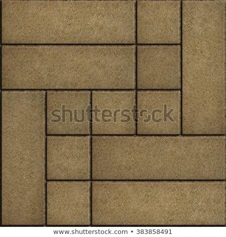 Sand Color Rectangular Paving Slabs. Stock photo © tashatuvango