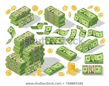 flat style illustration of a bundle of money. Stock photo © curiosity