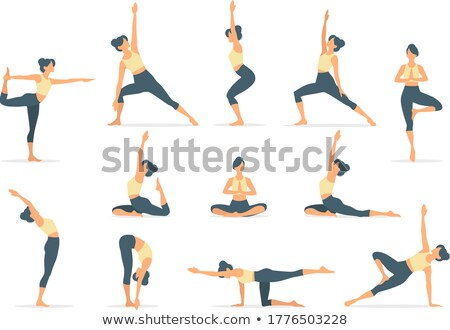 characters man and woman doing yoga.  Stock photo © curiosity