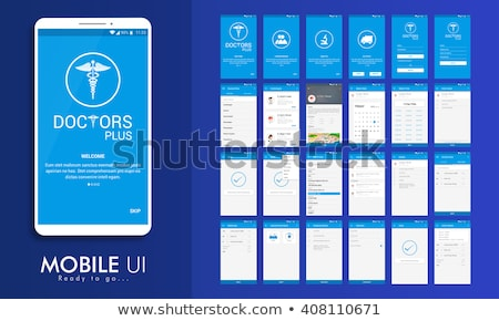 Login Screens Mobile app. Material Design UI, UX, GUI. Responsive website. Stock photo © Leo_Edition