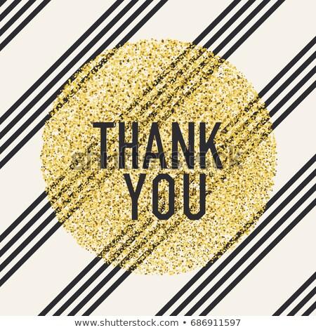 Teşekkür ederim tasarım şablonu diyagonal siyah hatları Stok fotoğraf © pashabo