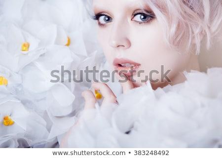 美 モデル 肖像 創造 眉毛 化粧 ストックフォト © chesterf