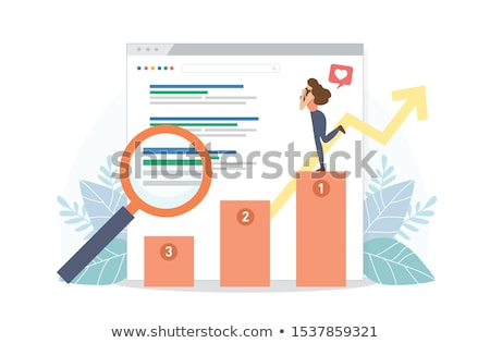 Laptop képernyő rangsor modern munkahely mutat Stock fotó © tashatuvango