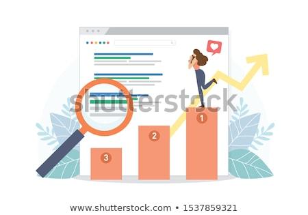 Stok fotoğraf: Laptop Screen With Ranking Concept