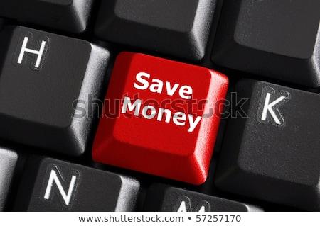 save   concept on red keyboard button stock photo © tashatuvango