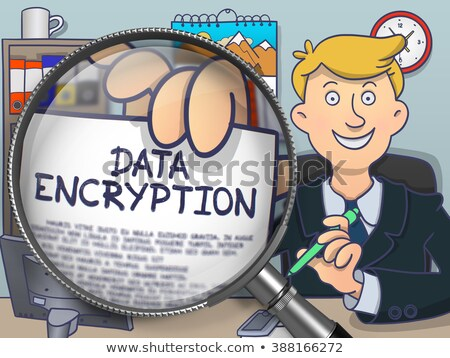 Data Encryption through Lens. Doodle Concept. Stock photo © tashatuvango