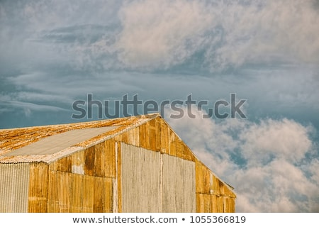 Stock photo: Abandoned outback farming shed in Queensland