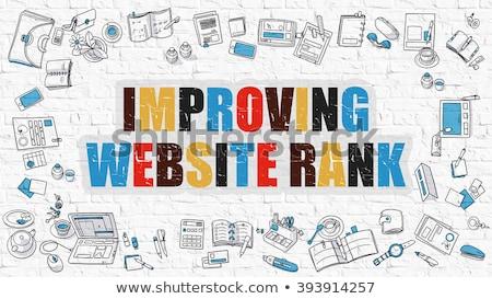 Improving Website Rank Concept. Multicolor on White Brickwall. Stock photo © tashatuvango
