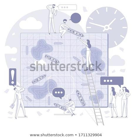 Kilátás csatahajó játék minta szín ötlet Stock fotó © monkey_business